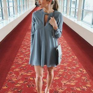 Halston Flowy Mini Dress